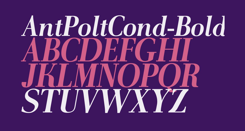 AntPoltCond-BoldItalic