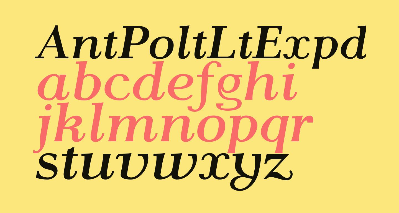 AntPoltLtExpd-BoldItalic