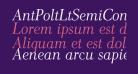 AntPoltLtSemiCond-Italic