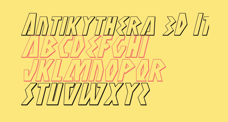 Antikythera 3D Italic