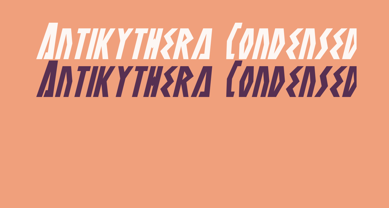 Antikythera Condensed Italic