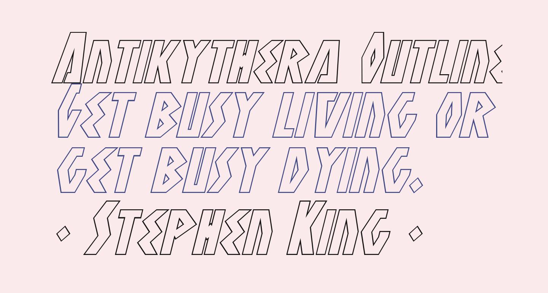 Antikythera Outline Italic