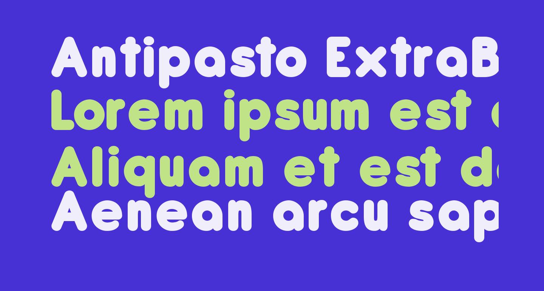 Antipasto ExtraBold