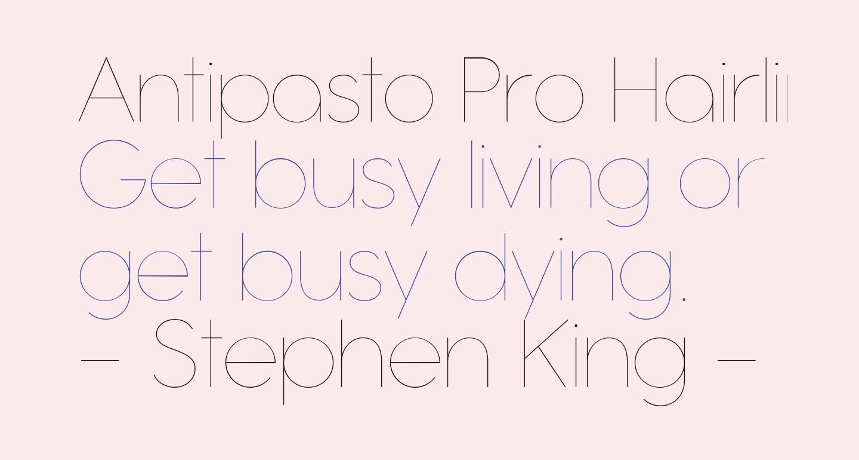 Antipasto Pro Hairline