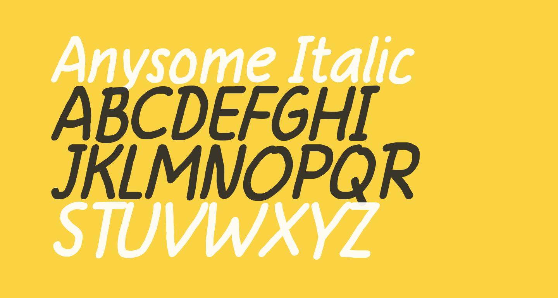 Anysome Italic
