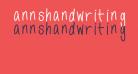 annshandwriting
