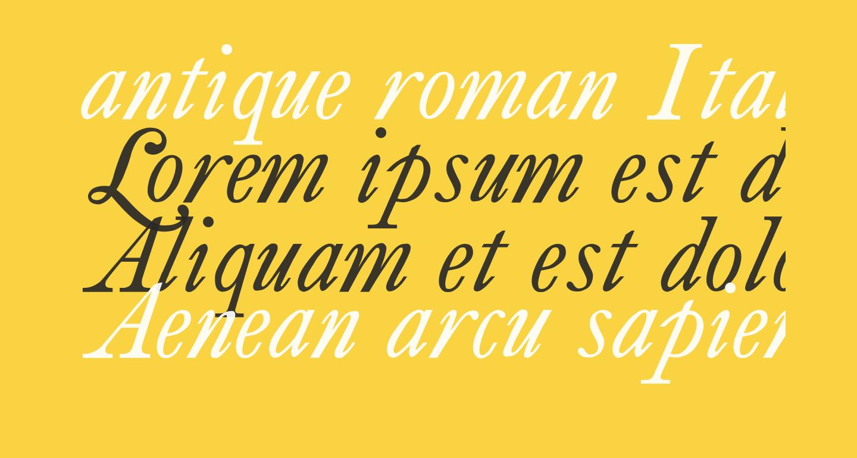 antique roman Italic