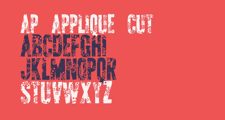 AP Applique Cut