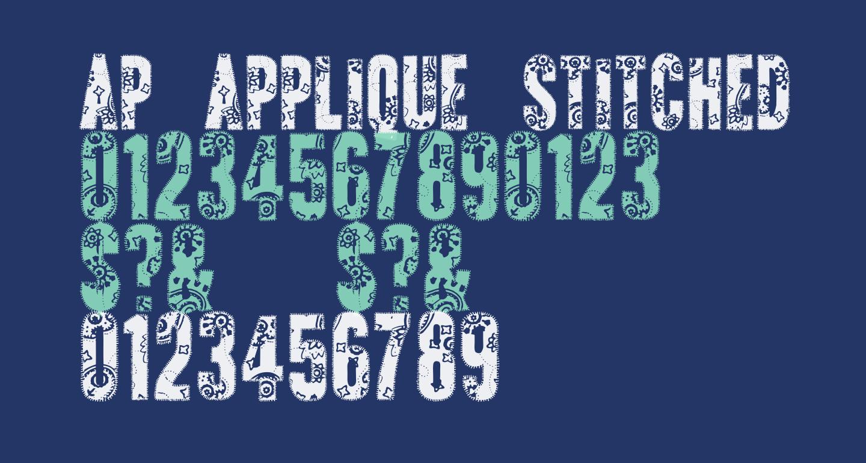 AP Applique Stitched
