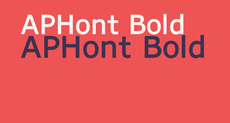 APHont Bold