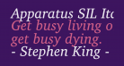 Apparatus SIL Italic