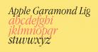 Apple Garamond Light Italic