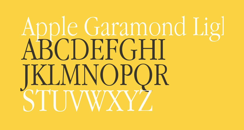 Apple Garamond Light