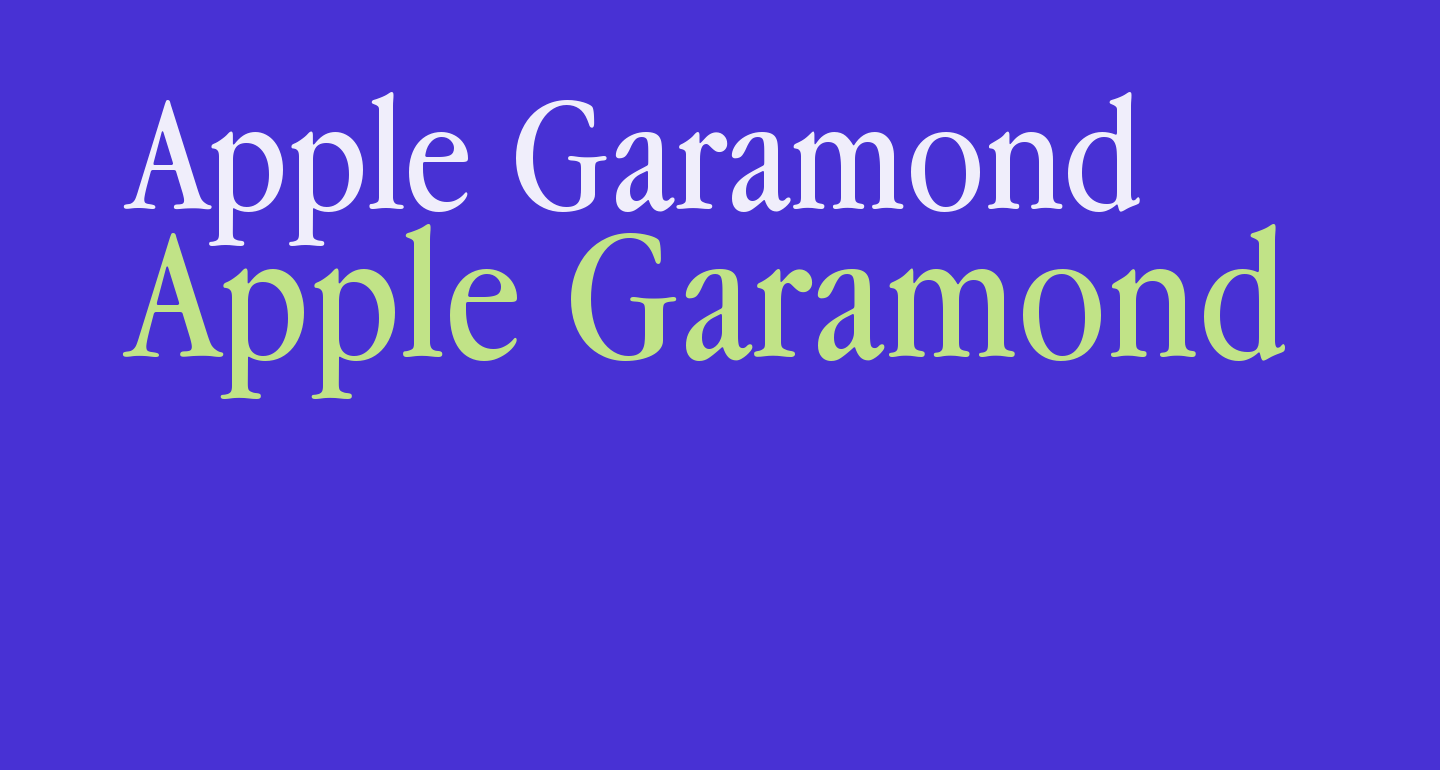 Download Apple Garamond free Font - What Font Is