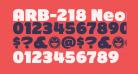 ARB-218 Neon Blunt MAR-50 Normal Italic