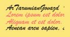 ArTarumianGovazd  Italic