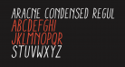 Aracne Condensed Regular Italic