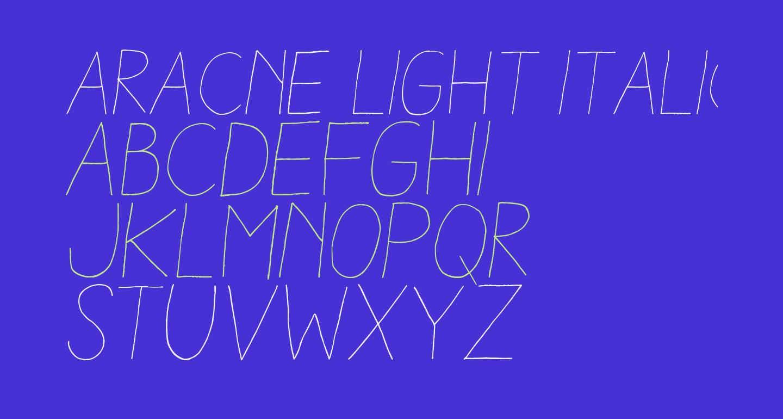 Aracne Light Italic