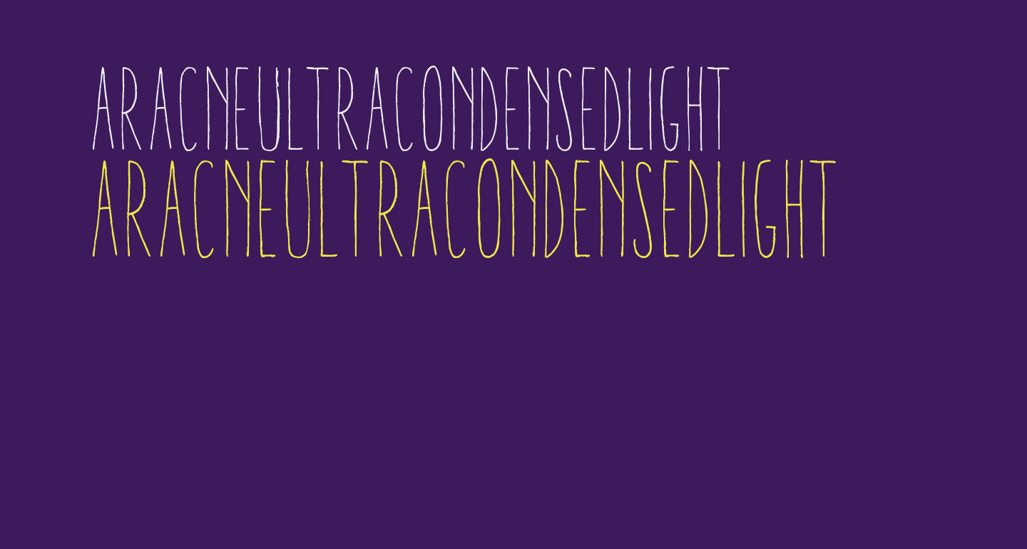 AracneUltraCondensedLight