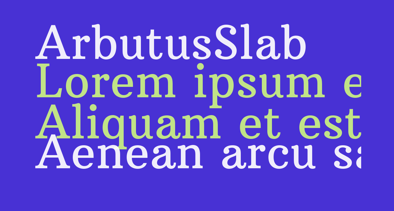 ArbutusSlab