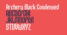 Archery Black Condensed