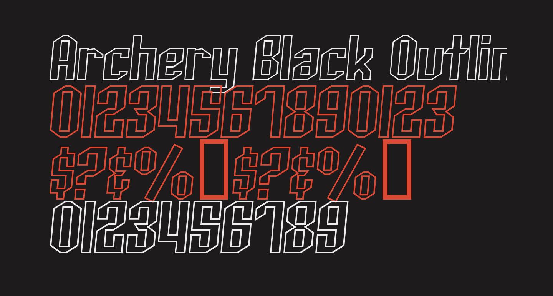 Archery Black Outline Italic