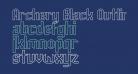 Archery Black Outline