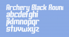 Archery Black Rounded Italic