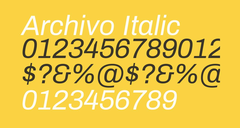 Archivo Italic
