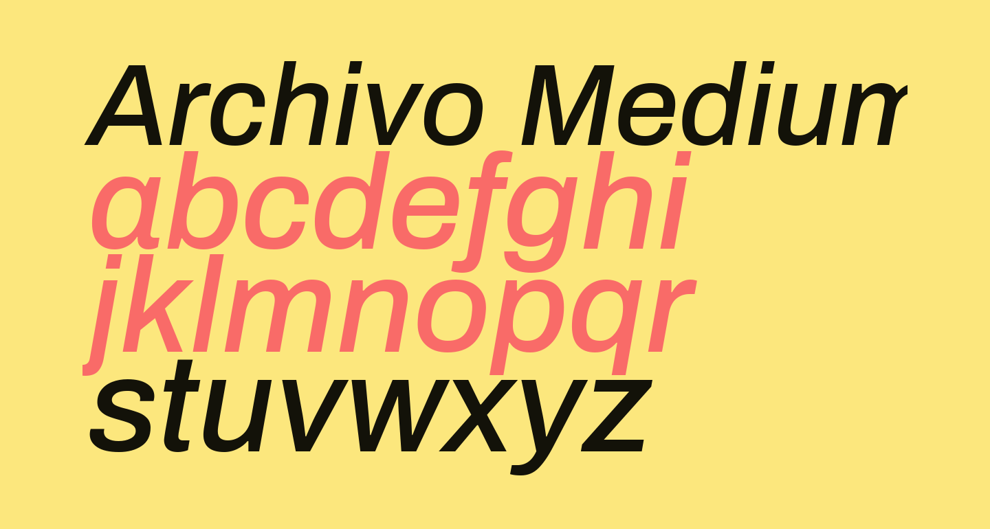 Archivo Medium Italic