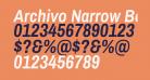 Archivo Narrow Bold Italic