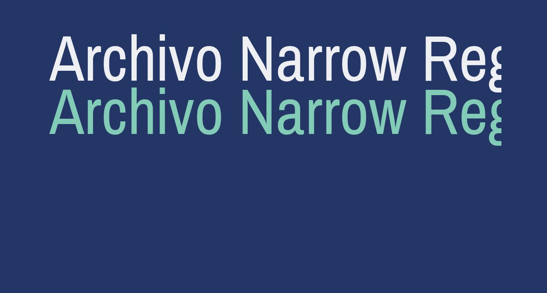 Archivo Narrow Regular