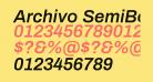 Archivo SemiBold Italic