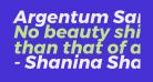 Argentum Sans Bold Italic
