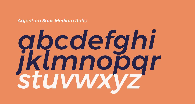 Argentum Sans Medium Italic