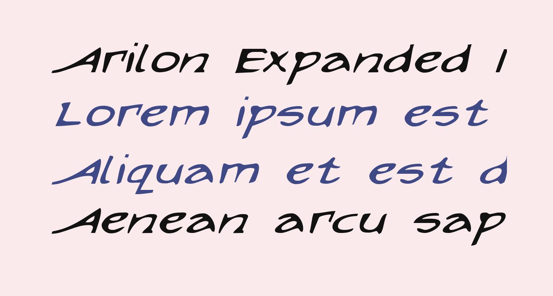 Arilon Expanded Italic