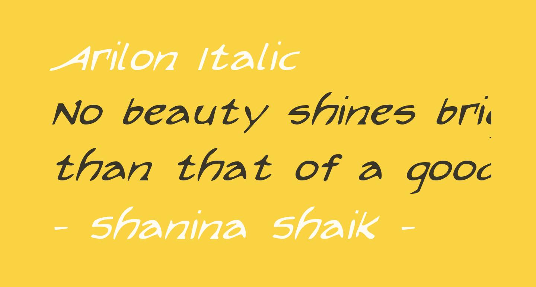 Arilon Italic