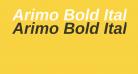 Arimo Bold Italic