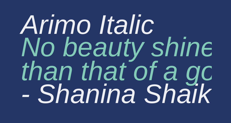 Arimo Italic