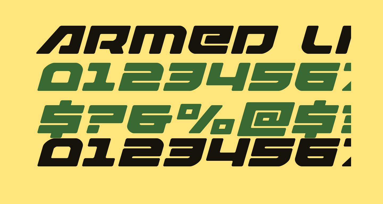 Armed Lightning Expanded Italic