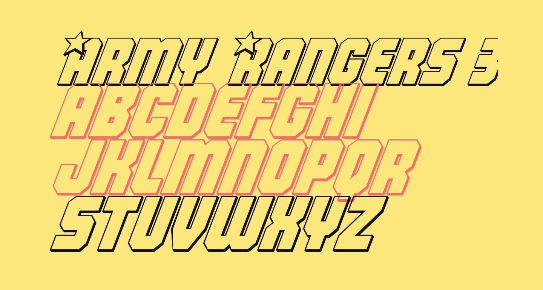 Army Rangers 3D Italic