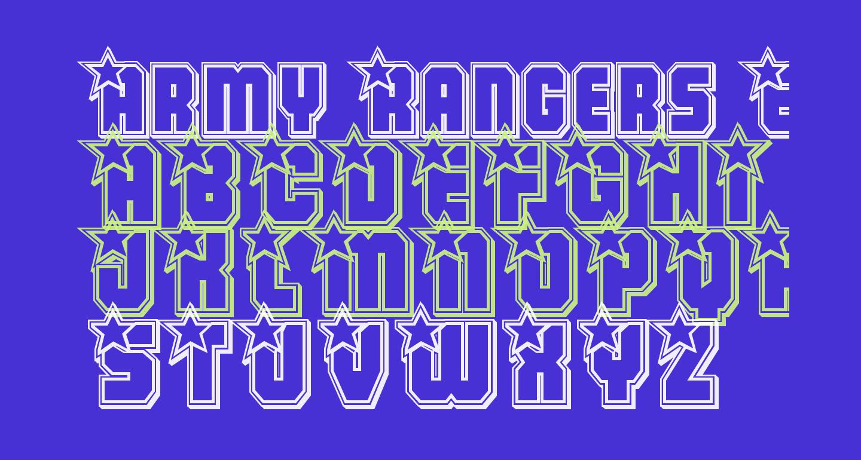 Army Rangers Engraved Regular