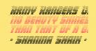 Army Rangers Gradient Italic