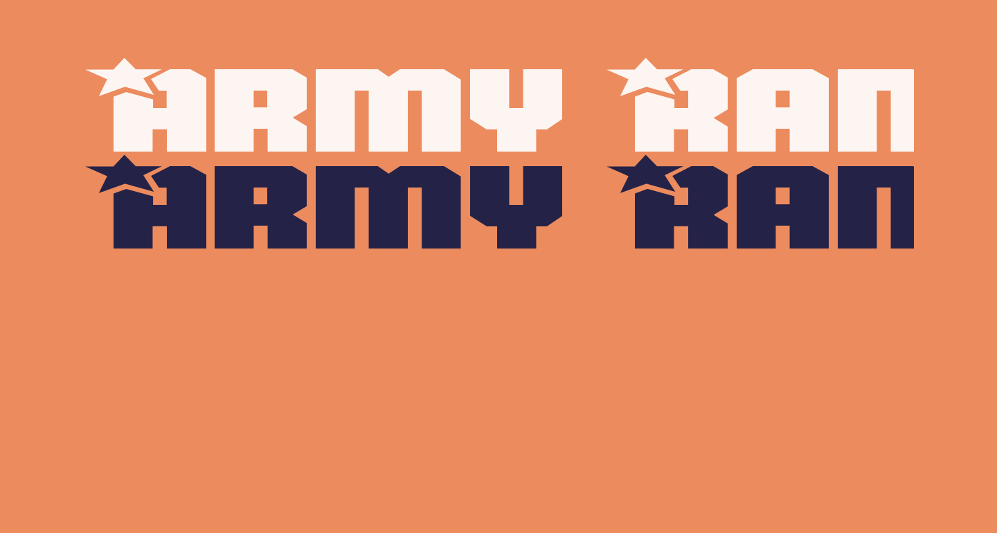 Army Rangers Regular Super-Expanded