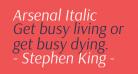 Arsenal Italic