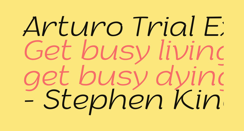 Arturo Trial ExtraLight Italic