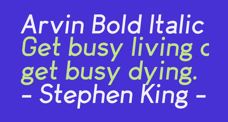 Arvin Bold Italic