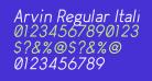 Arvin Regular Italic