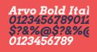 Arvo Bold Italic