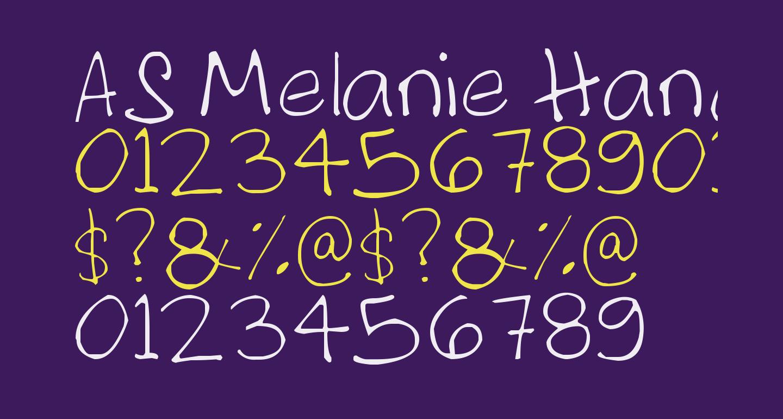 AS Melanie Handwritting